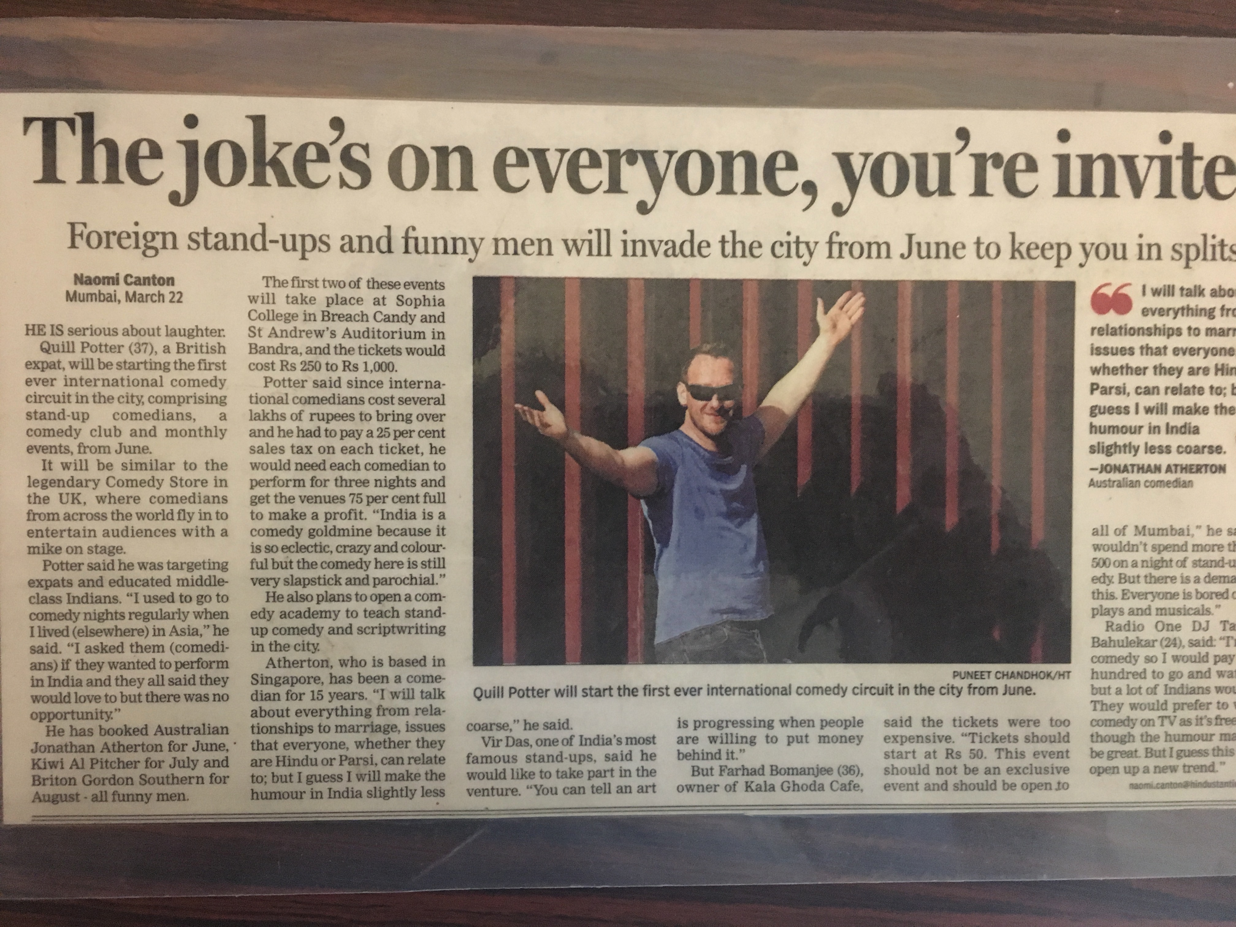 Part 2 of My Comedy Journey – How I Brought The First Ever Stand-Up